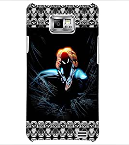 PrintDhaba Spider Man D-5695 Back Case Cover for SAMSUNG GALAXY S2 (Multi-Coloured)