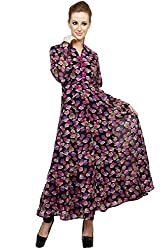 Lady In Red Floral Anarkali (Size- Large)