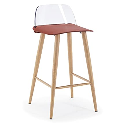 JJZDYZ Stuhl Multicolor Einfache Plastik Bar Stuhle Kreative Mode Cafe High Stuhl Stuhle (79,5 * 39cm) Klappstuhl ( Farbe : 7* )