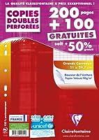 Clairefontaine 44711c Copies Doubles Seyès Grands Carreaux A4 Paquet de 200 + 100 Gratuites