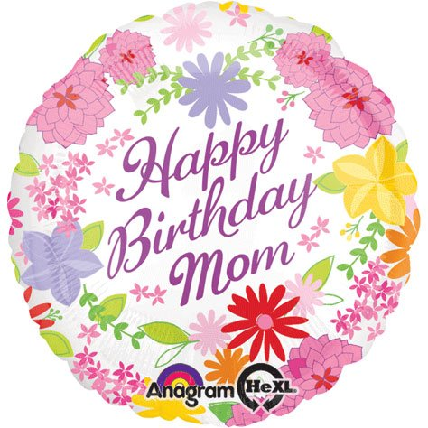 "18"" Pastel Flower Mom Birthday Hx"