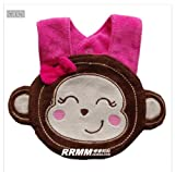 1X Cartoon Modelling Baby Saliva Bib For Baby K0815 (Female Monkey)