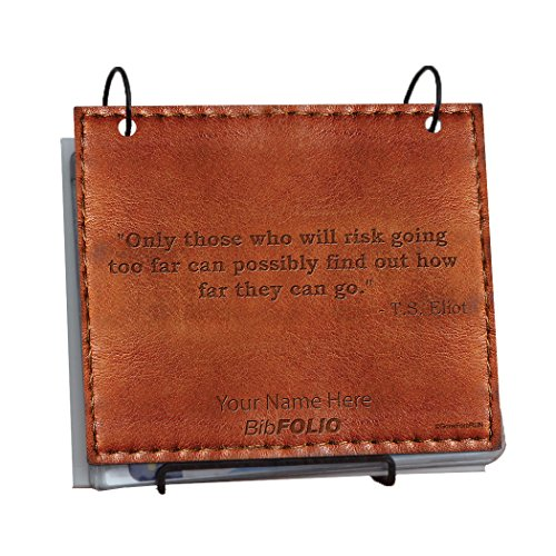 Only Those Who Risk Going Too Far Quote BibFOLIO - EXECUTIVE STYLE (Brown Executive)