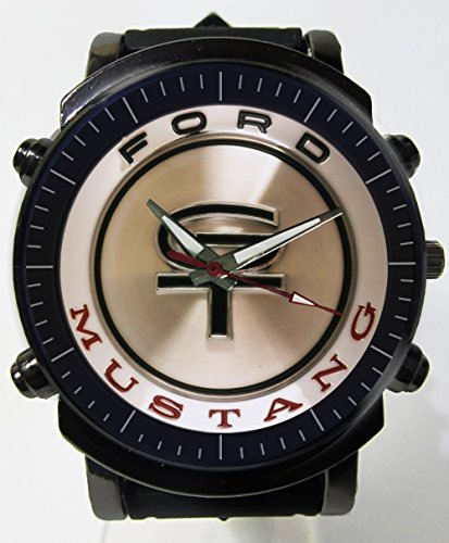 Hot Item Ford Mustang Gt Logo Blueish Glass Awesome Logo Custom Printed Sports Wrist Watch