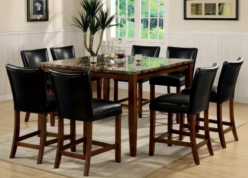 Buy Low Price Coaster 9pc Counter Height Dining Table & Stools Set Cherry Finish (VF_Dinset-120317-100357)