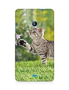 Amez designer printed 3d premium high quality back case cover for Microsoft Lumia 535 (Cat)
