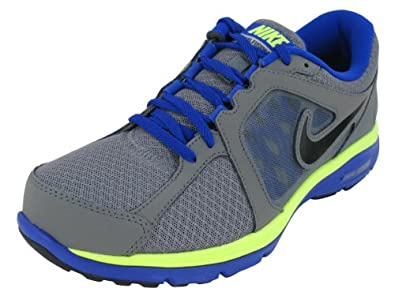 Men's Nike Dual Fusion Run Running Shoe Grey/Blue/Volt/Black Size 9