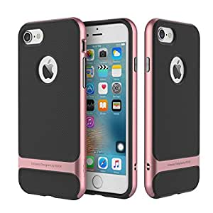 ROCK Royce Series Shockproof Dual Layer Back Case Cover for Apple iPhone 7 - Rose Gold