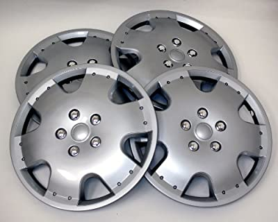 TuningPros Style# 720 Hubcaps Wheel Skin Cover Silver Set of 4