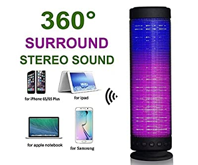 Greatever Fantasy Bluetooth Wireless Speakers with LED Night Light Portable Colorful Powerful Sound Build in Microphone for Indoor/Outdoor,Support TF Card Hands-free Function,Suitable for iPhone HTC Android- Speaker