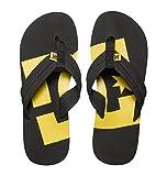 DC Shoes Men's Central Flip Flops in Black/Yellow