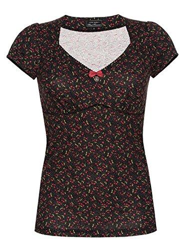 Vive Maria americano Cherry Pie camicia nero X-Small