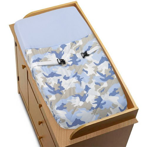 Blue Camo Baby Bedding 9752 front