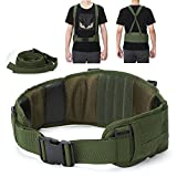 Yahill Unique Security Tactical Belt Molle Adjustable with Free Strap Tactical Waist Belt for Military Equipment and Outdoor Sports (Army Green)