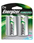 Energizer Rechargeable Batteries, D,...