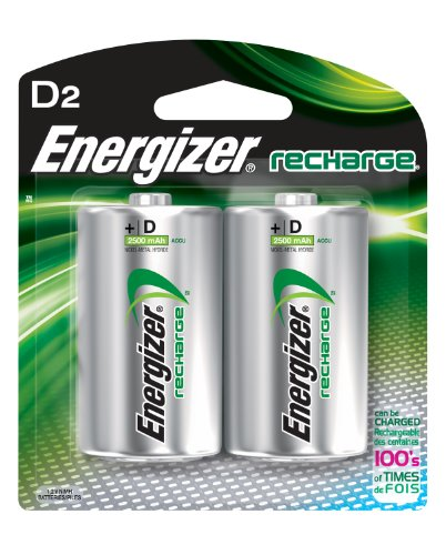 Energizer Rechargeable Batteries , D , 2-Count - Energizer at Sears.com