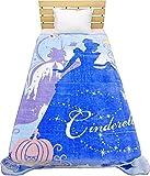 大人気のディズニー暖か毛布 /ミッキーマウス/アナと雪の女王/アリエル/シンデレラ 140×200cm (シンデレラ)
