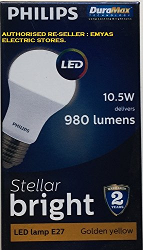 Philips-Stellar-Bright-10.5W-E27-980L-LED-Bulbs-(Warm-White,-Pack-of-4)