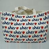 Cher(シェル) トートバック エコバッグ 【ホワイト】 (M)
