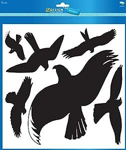 Avery Zweckform 4485 Warnvögel 28x18, 8x5,5cm, schwarz, wetterfest