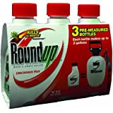 Roundup 5006510 Weed and Grass Killer Concentrate Plus, 6-Ounce Per Bottle X 3 Bottles