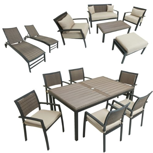 Cheap Price Rst Outdoor Op Zen14 Sanctuary Outdoor Collection Patio Furniture 14 Piece
