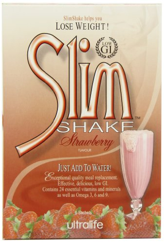 Ultralife Slim Shake 52 g Strawberry Weight Loss Support Meal Replacement Shake Powder Sachets - Box of 6