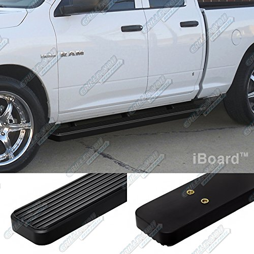 "Matte Black 4"" iBoard Running Boards 09-15 Dodge Ram 1500 Quad Cab Nerf Bar Side Steps Tube Rail Bars Step Board"