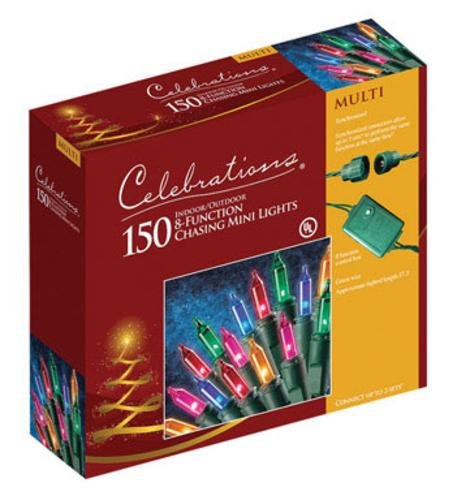"Celebrations Chasing Mini Motion Lights 150 Lights Multi 6"" Ul"