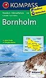 Bornholm: Wanderkarte mit Akiv Guide, Radrouten und Stadtplan von Ronne. 1:50000 (KOMPASS-Wanderkarten)