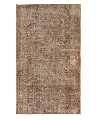 "eCarpet Gallery One-of-a-Kind Hand-Knotted Anatolian Rug, Brown/Khaki, 3' 10"" x 6' 6"""