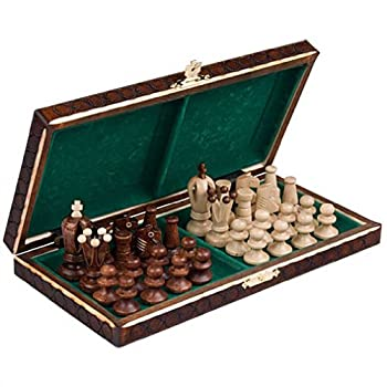 Chess Royal 30 European Wooden Handmade International Set, 11.81 x 1.97-Inch