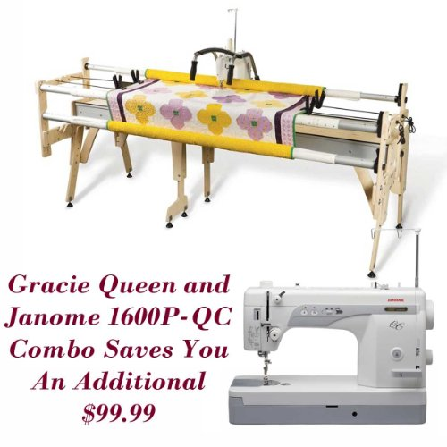 Janome 1600P-QC Sewing Machine Grace Queen Quilting Frame Reviews ...