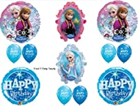 Frozen Blue Sparkle Disney Movie BIRTHDAY PARTY Balloons Decorations Supplies from Anagram