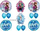 Frozen Blue Sparkle Disney Movie BIRTHDAY PARTY Balloons Decorations Supplies