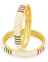 YouBella Gold Plated Pearl Bangles Jewellery For Girls/Women
