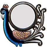 Ghanshyam Art Wood Peacock Wall Mirror (30.48 Cm X 4 Cm X 30.48 Cm, GAC095)