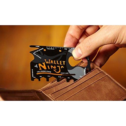 Utensile multiuso 18 in 1 carta di credito multifunzione sopravvivenza ninja wallet credit card multi tool. MWS