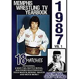 1987 Memphis Wrestling Tv Yearbook