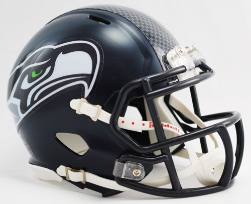 Seattle Seahawks Riddell Speed Mini Football Helmet new 2012 design at Amazon.com