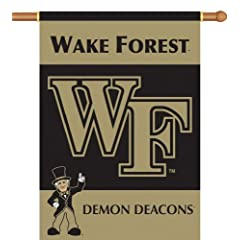 Buy NCAA Wake Forest Demon Deacons 2-Sided 28-by-40 inch House Banner with Pole Sleeve by BSI