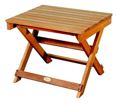Natural Wood Side Table ~ Luunguyen outdoor hardwood folding side table natural
