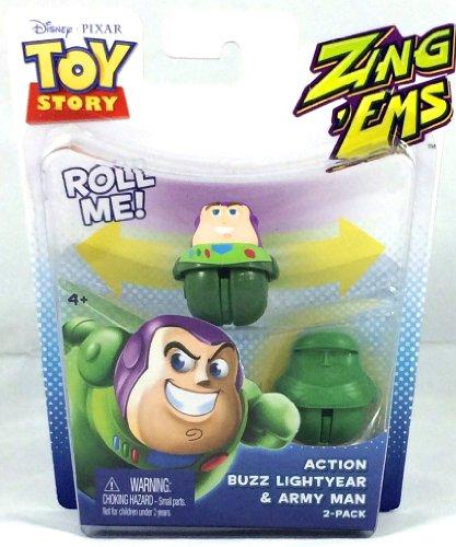 Disney Pixar Toy Story - Zing Ems - Action Buzz Lightyear & Army Man