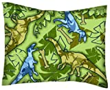 SheetWorld Crib / Toddler Percale Baby Pillow Case - Dinosaurs - Made In USA