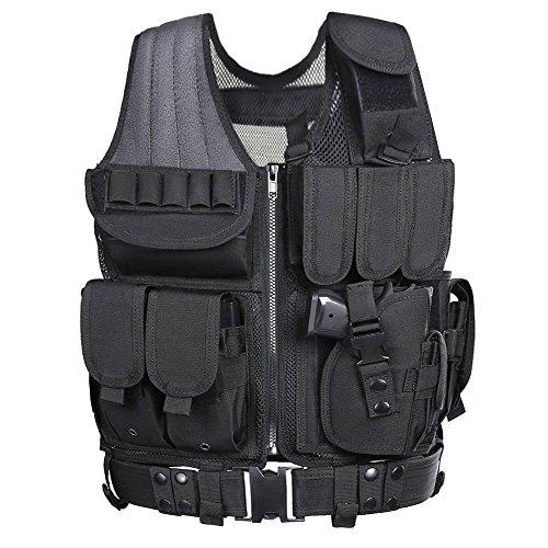 Tactical Vest, Weize Elite Molle Law Enforcement Vest Modular Assault Vest (Modular Hydration Carrier compare prices)