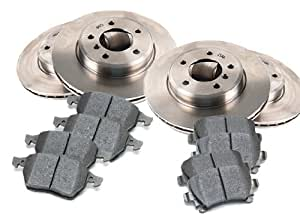 2008 MERCEDES BENZ E320 Bluetec Front and Rear Brake Pads and Brake Rotors OEM Replacement Direct Fit Brake Kit