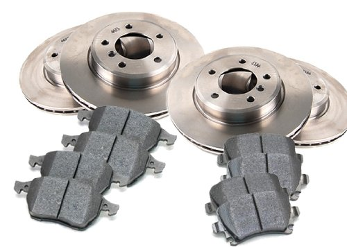 3/2006 - 10/2006 NISSAN ARMADA Akebono Frt Cal Front and Rear Brake Pads and Brake Rotors OEM Replacement Direct Fit Brake Kit