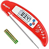 Anpro® Digital Instant Read Cooking Thermometer with Stainless Probe, Best for Food, Meat, Cooking,…
