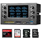 Sunshine-tipway® Front Panel Media Multi-functional Dashboard Card Reader 6 Channel Case Fan and Temperature Controller