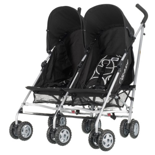 Obaby Apollo Twin Scribble Pushchair (Black)